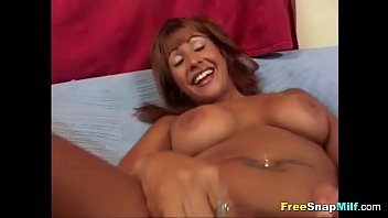Latina MILF gets a toy for her pussy