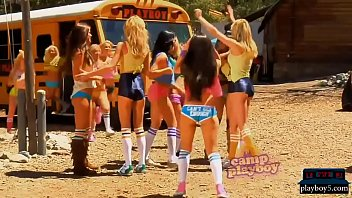 camp of youthfull and ample boobed playboy bunnies squealing