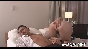 Stud with vibrator loves his one-eyed monster sucked by tight asian milf