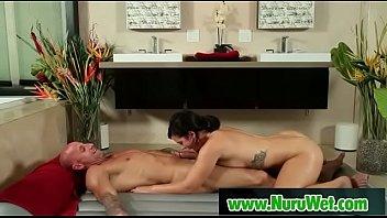 Japanesse masseuse gived pleasure in nuru massage 14