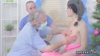 Bf assists with hymen check-up and riding of virgin teenie