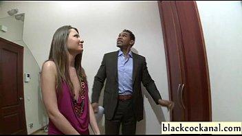 Interracial gangbang girl with black cocks