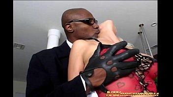 hot blonde slut Nikki Hunter anal interracial sex with big black dick