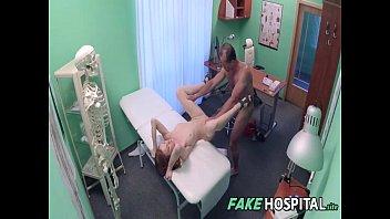 bony russian teenager banging the medic