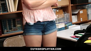 ash-blonde teenager caught stealing sunglasses drilled.
