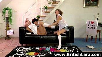 brit cougar sees teenage lesbos pulverize.