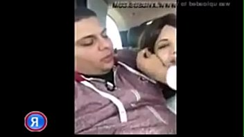 Arab Student Play WIth Her Boobs in the car Blowjob