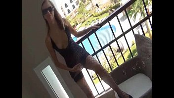 german dame has culo nailing hook-up on balcony.