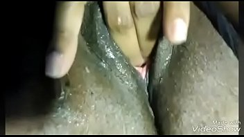 Ebony Amateur pussy play and masturbation