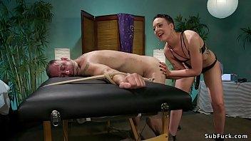 domineering masseuse spanks and boinks customer