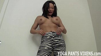 These zebra print yoga pants will get you nice and hard JOI