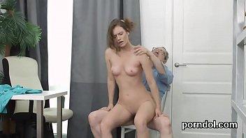 Nice schoolgirl was teased and penetrated by older teacher