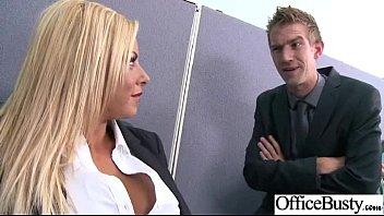 britney shannon massive knockers office mega-bitch woman poked.