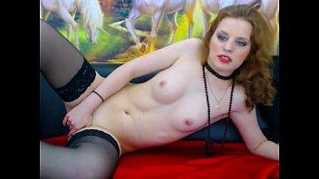 Sexy Young Redhead Teen masturbates Pussy Stockings on cam - GirlTeenCams.com