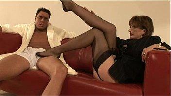mature brit tights superslut feet gobbling