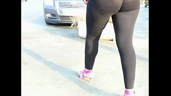 translucent spandex legging  street shoping culo wondrous cougar