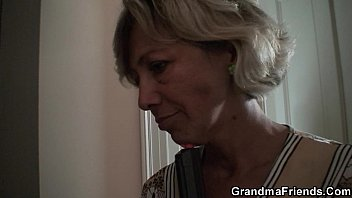 three-way with grandmother and men nubile
