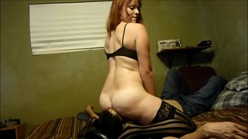 ginger-haired cougar rails his face