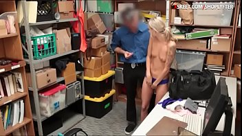 Petite blonde thief Emma Hix gets drilled by LP officer