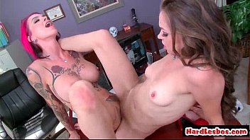 Blonde And Brunette Lesbians Explore Each Others Big Tits 06