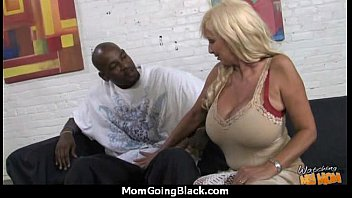 cougar with raw honeypot gets railed by dark-hued.