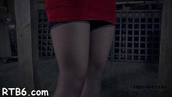 ball-gagged cutie receives cruel cropping on her milk jiggles