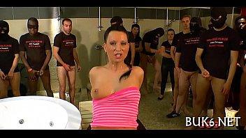 maid gets group gang-plumb sesh