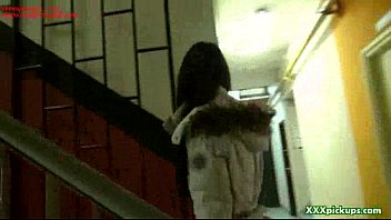monstrous-chested brown-haired student is paid for hook-up while.