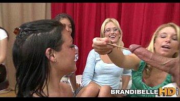 brandi belle and homies measure stud rod before humping
