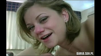 Teen from Poland sucks cock and gets cum on her face