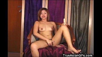 Hairy Asian GF Suckin