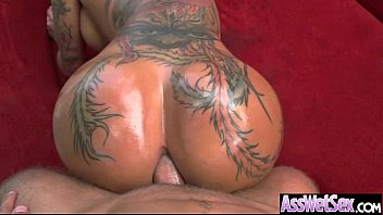 Anal Sex With Oiled All Up Horny Big Butt Girl (bella bellz) movie-06