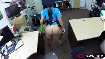honey in a police uniform humped up her.