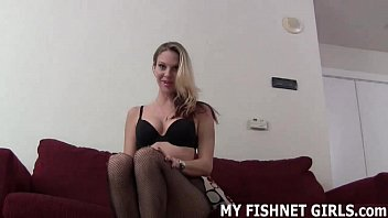 I cant wait to tease your cock in my new fishnets JOI