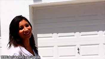 Latina amateur does her first video