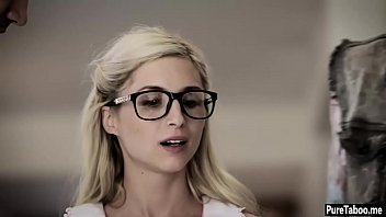 smallish teenager trades chastity to save her nerdy beau