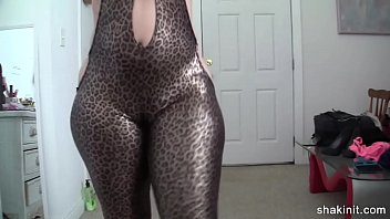 spandex figure suit cant contain this.