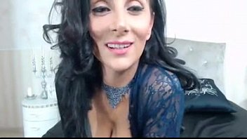 Raven Haired MILF Teasing in Sexy Lingerie -tinycam.org