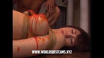 crimson-hot japanese teenage waxed on her.