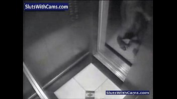 covert webcam catches hump in elevator.
