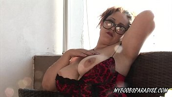huge-boobed nasty maria on balcony showcase melons and.