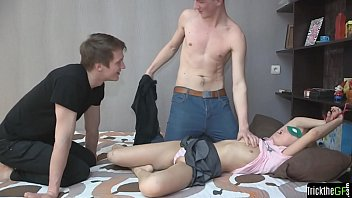 Bound teen cheating on her boyfriend