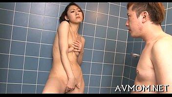 Milf oriental slut and 3 dicks