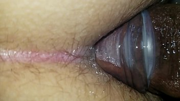 Big black shemale cock in my tight white ass