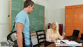 chesty light-haired instructor summer brielle gets.