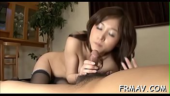 Sultry japanese'_s lusty masturbation