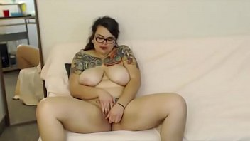 inked plus-size rayne spitfire with giant melons and.