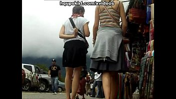 Spying girls for real street upskirt
