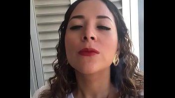 Mexican slut Marcela smoking hot cigarette