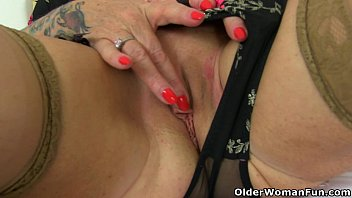 uk gilf camilla lets a pocket hitachi buzz.